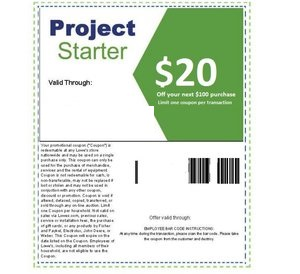 Printable Home Improvement Lowes 20 Off 100 Coupons